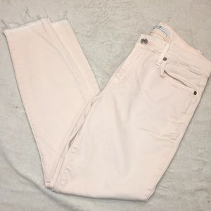 7 For All Mankind pale pink jeggings. Sz 29  Cute!
